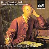 Georg Friedrich H&#228;ndel: Sonatas for Recorder and Basso Continuo