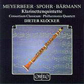 Meyerbeer, Spohr, Busoni, Barmann: Clarinet Works / Kl&#246;cker