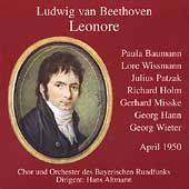Beethoven: Leonore / Altmann, Hann, Patzak, Baumann, et al
