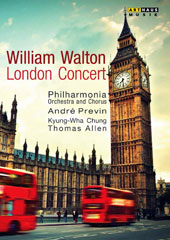 William Walton: Coronation March: Orb and Sceptre; Violin Concerto; Belshazzar's Feast / Thomas Allen, barition  Kyung-Wha Chung, violin (live, Royal Festival Hall, 1982) [DVD]