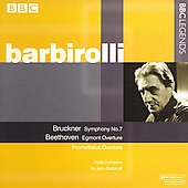 Bruckner: Symphony no 7;  Beethoven / Barbirolli