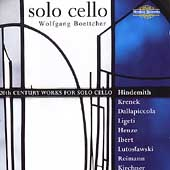 Solo Cello - Hindemith, Krenek, Ligeti, etc / Boettcher