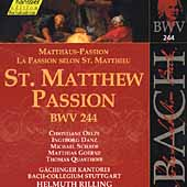Edition Bachakademie Vol 74 - St. Matthew Passion BWV 244