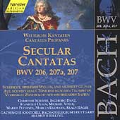 Edition Bachakademie Vol 64 - Secular Cantatas BWV 206-207a