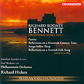Bennett: Orchestral Works Vol 1 / Hickox, et al