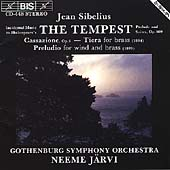 Sibelius: The Tempest, etc / Järvi, Gothenburg SO