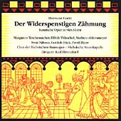 Goetz: Der Widerspenstigen Z&#228;hmung / Elmendorff, et al