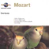 Mozart: Overtures / Karl B&#246;hm, Berlin PO, Vienna PO, et al