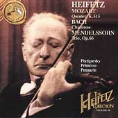The Heifetz Collection Vol 34 - Mozart, Bach, Mendelssohn