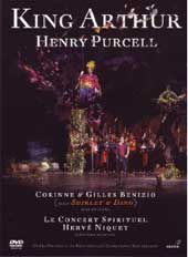 Purcell: King Arthur / Niquet, Labin, Santon-Jeffery, Fernandes [DVD]