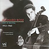 Leonard Rose - Live in Recital 1953-1960