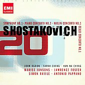 20th Century Classics - Shostakovich: Symphony no 1, Piano Concerto no 2, etc / Pappano, Ogdon, Chang, Foster, et al