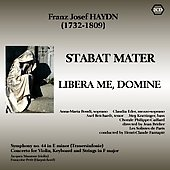 Haydn: Stabat mater, Libera me Domine, Symphony no 44, etc / Bridier, Fantapie, Manzone, Petit, et al