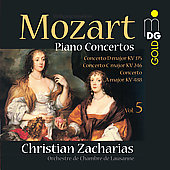 Mozart: Piano Concertos Vol 5 / Christian Zacharias, Lausanne Chamber Orchestra