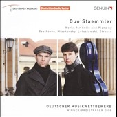 Works For Cello & Piano by Beethoven, Miaskovsky, Lutoslawski, Strauss