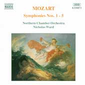 Mozart: Symphonies nos 1-5 / Ward, Northern CO