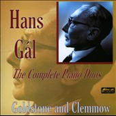 Hans Gal: The Complete Piano Duos / Goldstone and Clemmow