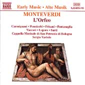 Early Music - Monteverdi: L'Orfeo / Vartolo, Carmignani, etc