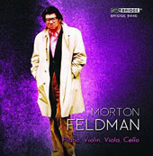 Feldman: 'Piano, Violin, Viola, Cello' (Morton Feldman, Vol. 5) / Aleck Karis, piano; Curtis Macomber, violin; Danielle Farina, viola; Christopher Finckel, cello
