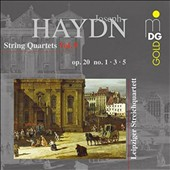 Haydn: String Quartets, Vol. 9 - Op. 20, Nos. 1, 3, 5 / Leipzig String Quartet