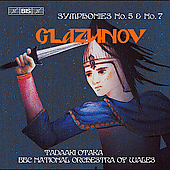 Glazunov: Symphonies no 5 & 7 / Otaka, et al