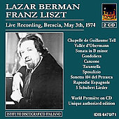 Liszt: Sonata in B minor, etc / Lazar Berman