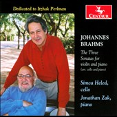 Brahms: Three Sonatas for Violin and Piano / Simca Heled, cello; Jonathan Zak, piano