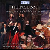 Liszt: Transcriptoins & Paraphrases on Verdi opera arias / Giulio De Luca, piano
