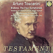 Brahms: The Four Symphonies, etc / Toscanini, Philharmonia