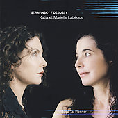Stravinsky: Concerto for 2 pianos; 5 Easy Pieces; 3 Easy Pieces; Ragtime; Debussy: En blanc et noir;  / Katia and Marielle Labèque
