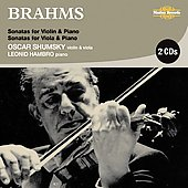 Brahms: Violin and Viola Sonatas / Oscar Shumsky, Leonid Hambro