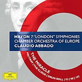 Haydn: 7 London Symphonies / Claudio Abbado, Chamber Orchestra of Europe