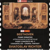 Beethoven: Piano Sonatas Appassionata & Pathetique; Piano Conderto No. 3 / Richter