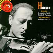 Heifetz - Bruch, Vieuxtemps / Sargent, New Symphony