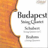 Budapest String Quartet plays Schubert & Brahms