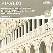 Vivaldi: Violin Concertos & String Symphonies Vol 1 / Mintz, et al