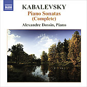 Kabalevsky: Complete Piano Sonatas / Alexandre Dossin