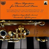 Rare Repertoire for Clarinet and Piano: works by Daniel Mason; Donald Tovey; Albert Moeschieger; J.S. Bach / Stephan Siegenthaler, clarinet; Konstantin Lifschitz, piano
