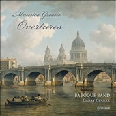 Maurice Greene (1696-1755): Overtures & Pieces for harpsichord / Baroque Band, David Schrader, harpsichord