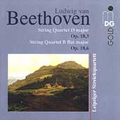 Beethoven: String Quartets Op 18 no 3 & 6 / Leipzig Quartet