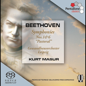Beethoven: Symphonies no 1 & 6 / Masur, et al