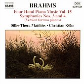 Brahms: Four-Hand Piano Music Vol 15 / Matthies, Köhn