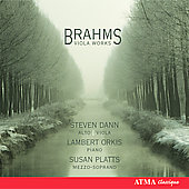 Brahms: Viola Works / Dann, Orkis, Platts