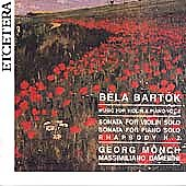 Bartok: Works for Violin & Piano Vol 2 / Monch, Damerini