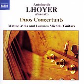 Lhoyer: Duos Concertants / Matteo Mela, Lorenzo Micheli