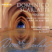 D. Scarlatti: Complete Sonatas Vol 3 / Richard Lester