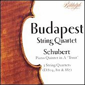 Schubert: String Quartet / Budapest String Quartet