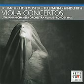 J.C. Bach, Hoffmeister, Telemann, Hindemith: Viola Concertos / Rohde, Mais, et al