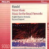 Handel: Water Music, Royal Fireworks / Leppard, English CO