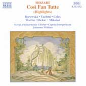Mozart: Così Fan Tutte Highlights / Johannes Wildner, et al